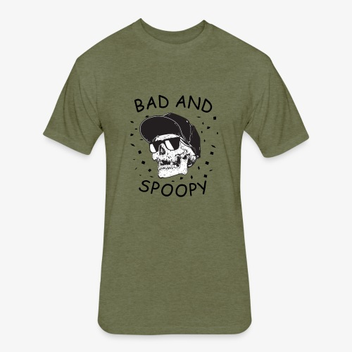 Bad and Spoopy - Fitted Cotton/Poly T-Shirt by Next Level
