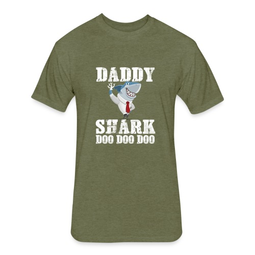 daddy shark Doo Doo doo Shirt - Fitted Cotton/Poly T-Shirt by Next Level