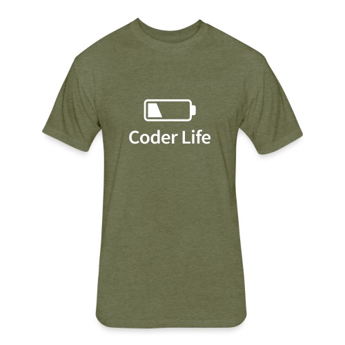 Coder Life - Fitted Cotton/Poly T-Shirt by Next Level