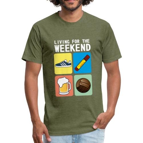 LIVING FOR THE WEEKEND (WV) - Fitted Cotton/Poly T-Shirt by Next Level