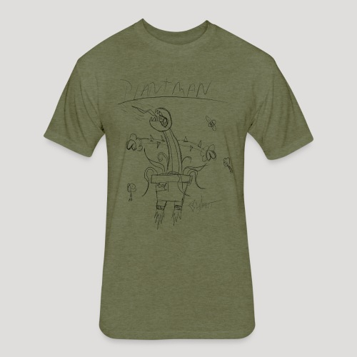 Plantman - Fitted Cotton/Poly T-Shirt by Next Level