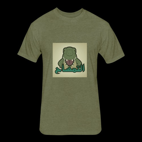 crocodile - Fitted Cotton/Poly T-Shirt by Next Level
