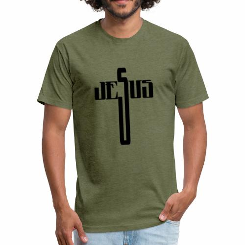 Jesus Cross - Fitted Cotton/Poly T-Shirt by Next Level
