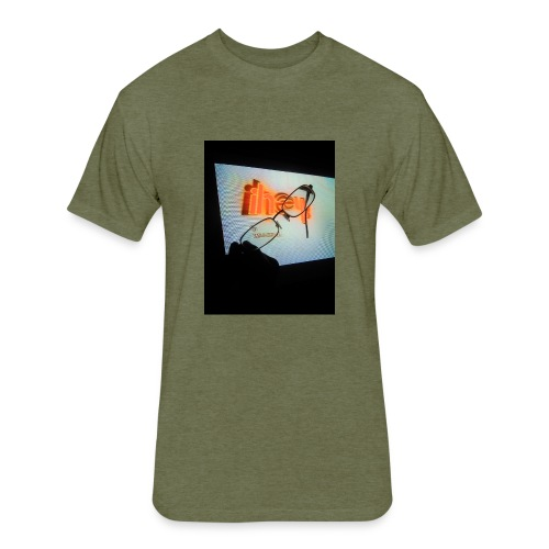 Glasses - Fitted Cotton/Poly T-Shirt by Next Level