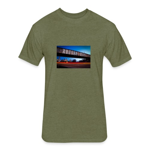 Husttle City Bridge - Fitted Cotton/Poly T-Shirt by Next Level