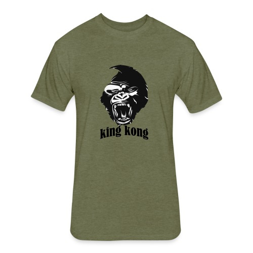 king kong - Fitted Cotton/Poly T-Shirt by Next Level