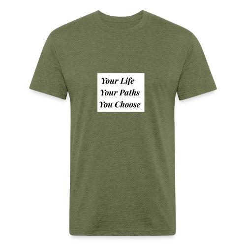65182748 3C6C 47E3 8F9C AAA29A7262B5 - Fitted Cotton/Poly T-Shirt by Next Level