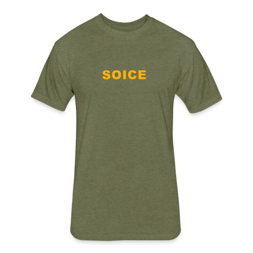Soice Statement - Fitted Cotton/Poly T-Shirt by Next Level