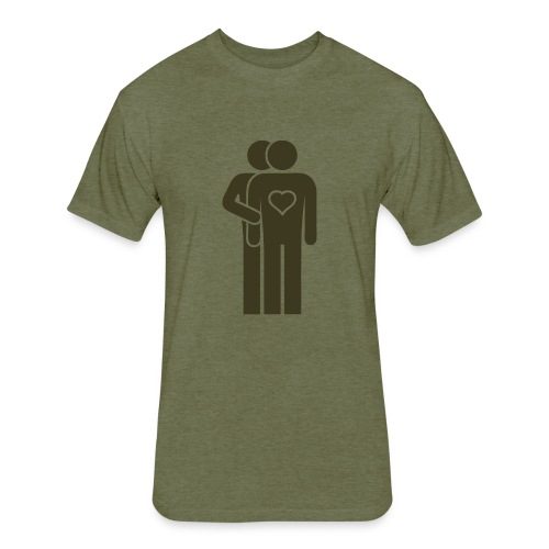 MAN LOVE MILITARY PRIDE No. 001 - Fitted Cotton/Poly T-Shirt by Next Level