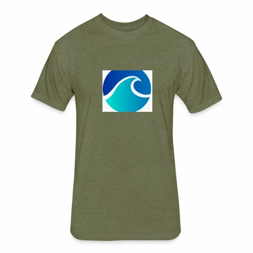 The Wave - Fitted Cotton/Poly T-Shirt by Next Level