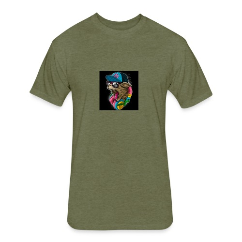 A coool cat - Fitted Cotton/Poly T-Shirt by Next Level