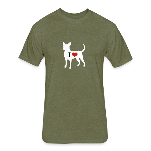 I Heart Chihuahua - Fitted Cotton/Poly T-Shirt by Next Level