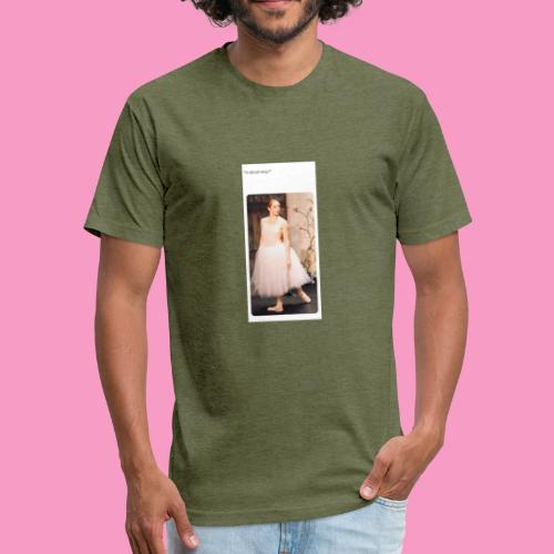 Caffiene is life - Fitted Cotton/Poly T-Shirt by Next Level