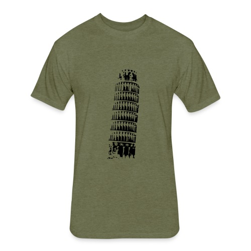 Leaning Tower of Pisa - Fitted Cotton/Poly T-Shirt by Next Level
