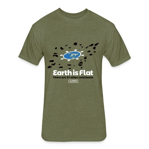 Flat Earth Design by #FETS - N°3 - Fitted Cotton/Poly T-Shirt by Next Level