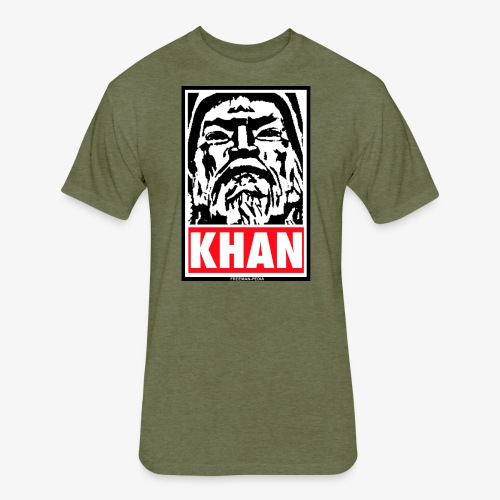 Obedient Khan - Fitted Cotton/Poly T-Shirt by Next Level