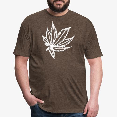 white leaf - Fitted Cotton/Poly T-Shirt by Next Level