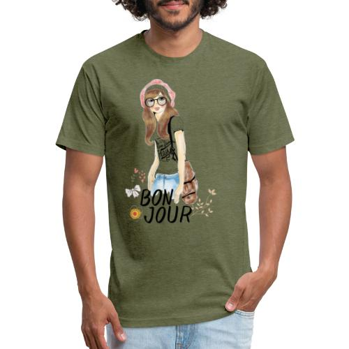BONJOUR - Fitted Cotton/Poly T-Shirt by Next Level