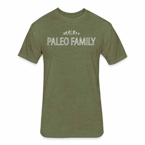 Paleo Family - 4 Kids - Fitted Cotton/Poly T-Shirt by Next Level