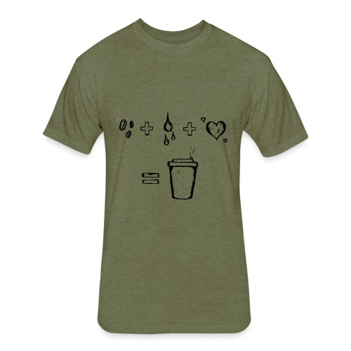 Coffee Blueprint - Fitted Cotton/Poly T-Shirt by Next Level