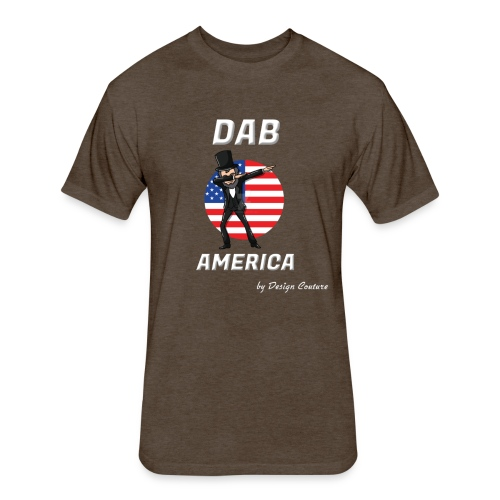 DAB AMERICA WHITE - Fitted Cotton/Poly T-Shirt by Next Level