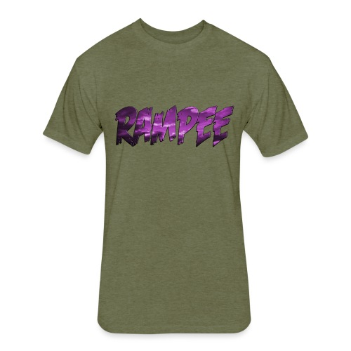Purple Cloud Rampee - Fitted Cotton/Poly T-Shirt by Next Level