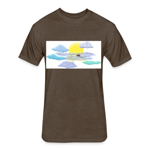 Sea of Clouds - Fitted Cotton/Poly T-Shirt by Next Level