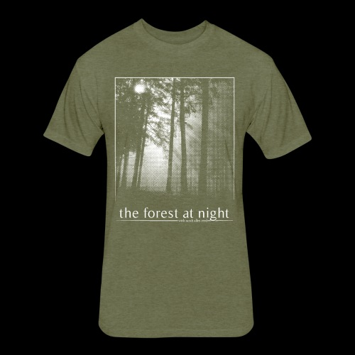 The Forest At Night - Fitted Cotton/Poly T-Shirt by Next Level