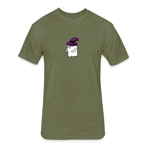 Little Ghost - Fitted Cotton/Poly T-Shirt by Next Level