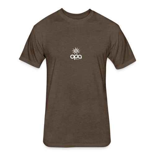 Short Sleeve T-Shirt with small all white OPA logo - Fitted Cotton/Poly T-Shirt by Next Level