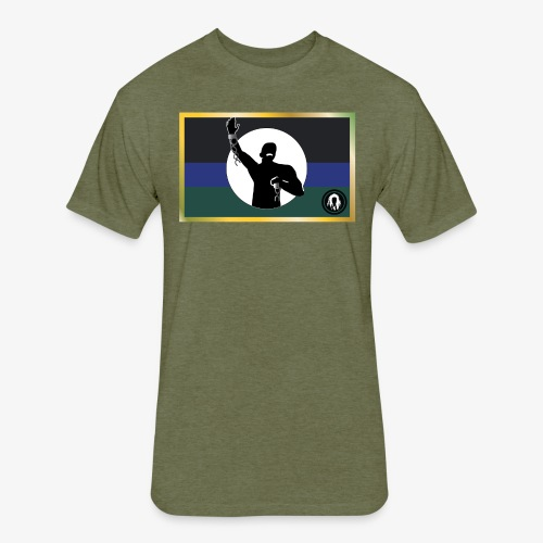 Palenque Flag - Fitted Cotton/Poly T-Shirt by Next Level