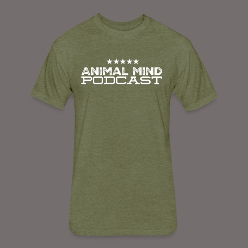 Animal Mind Patriotic Logo - Fitted Cotton/Poly T-Shirt by Next Level
