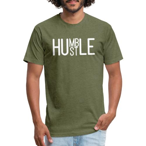 Humble Hustler - Fitted Cotton/Poly T-Shirt by Next Level