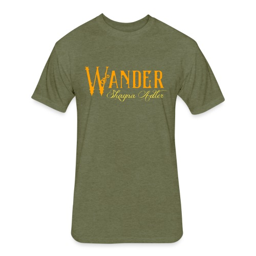 Wander Logo - Fitted Cotton/Poly T-Shirt by Next Level