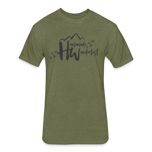Homemade Wanderlust Black Logo - Fitted Cotton/Poly T-Shirt by Next Level