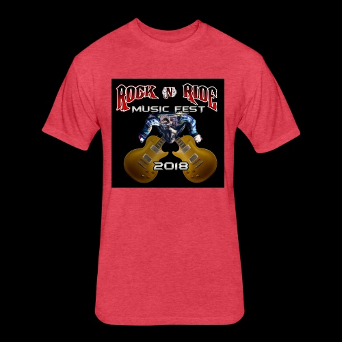 RocknRide Design - Fitted Cotton/Poly T-Shirt by Next Level