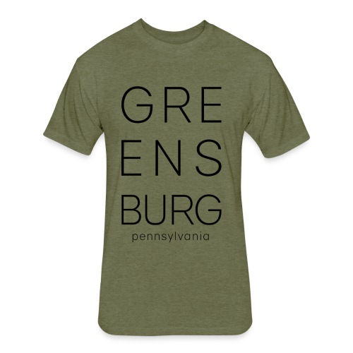 Greensburg Green Tee - Fitted Cotton/Poly T-Shirt by Next Level