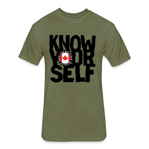 know black - Fitted Cotton/Poly T-Shirt by Next Level