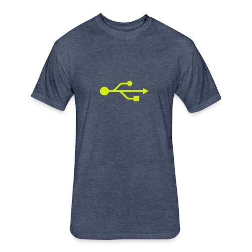 Yellow USB Logo Mid - Fitted Cotton/Poly T-Shirt by Next Level