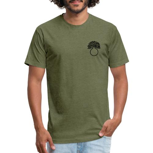 Logo Simple BW Blank - Fitted Cotton/Poly T-Shirt by Next Level