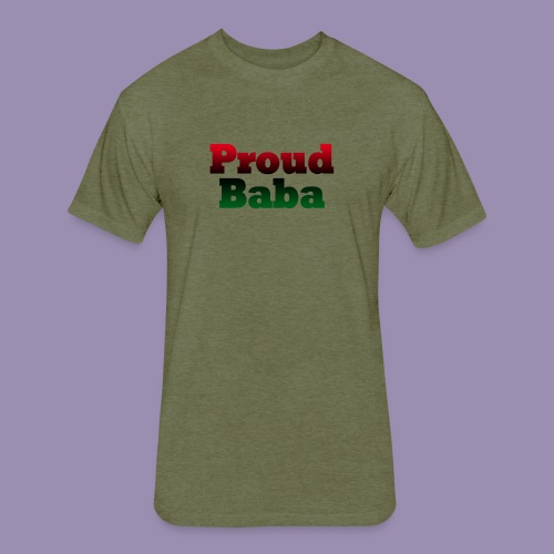 Proud Baba-RBG - Fitted Cotton/Poly T-Shirt by Next Level