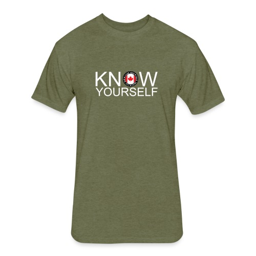 Know Yourself - Fitted Cotton/Poly T-Shirt by Next Level
