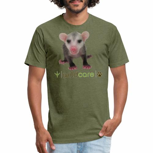 Baby Opossum in Care at WildCare - Fitted Cotton/Poly T-Shirt by Next Level