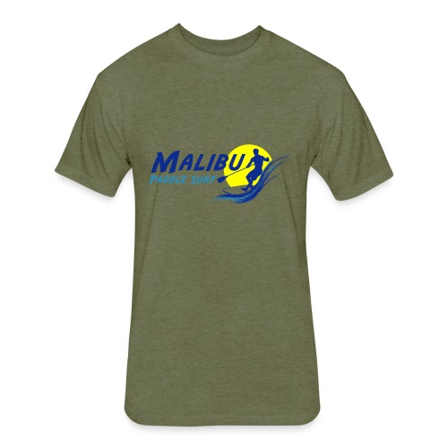 Malibu Paddle Surf T-shirts Hats Hoodies - Fitted Cotton/Poly T-Shirt by Next Level