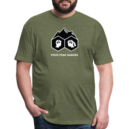 Pikes Peak Gamers Logo (Solid Black) - Fitted Cotton/Poly T-Shirt by Next Level