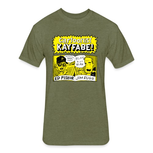 Cartoonist Kayfabe with Jim and Ed - Fitted Cotton/Poly T-Shirt by Next Level