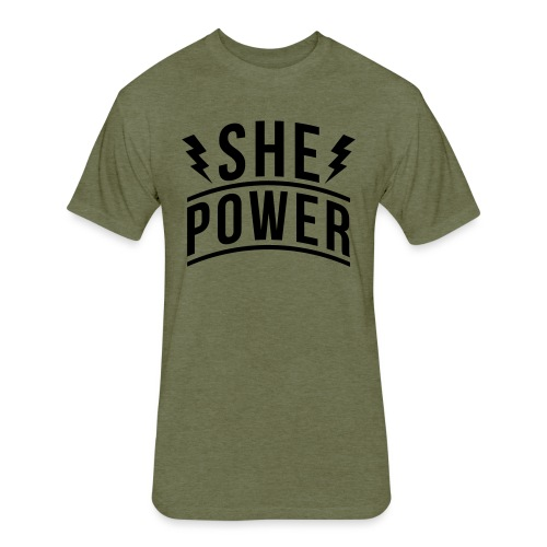 She Power - Fitted Cotton/Poly T-Shirt by Next Level