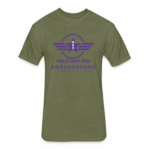 Military Kid Ambassador Purple Logo - Fitted Cotton/Poly T-Shirt by Next Level