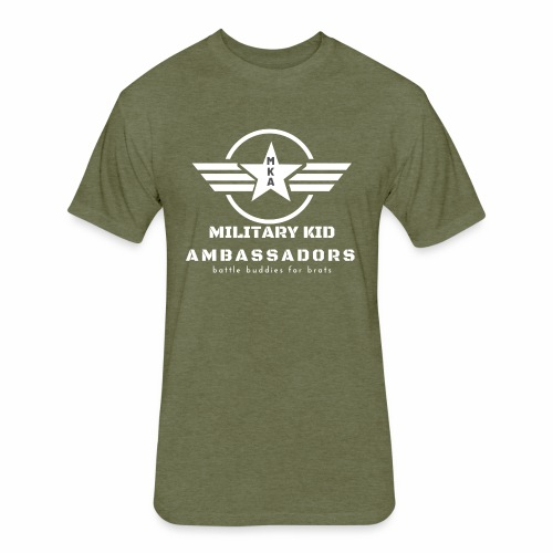 Military Kid Ambassador White - Fitted Cotton/Poly T-Shirt by Next Level