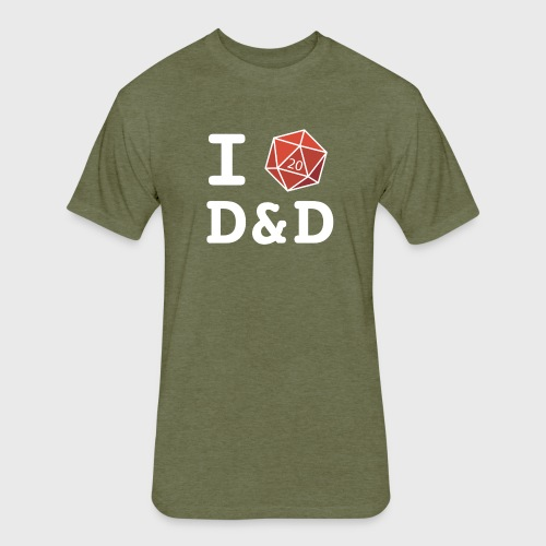 I DICE D&D - Fitted Cotton/Poly T-Shirt by Next Level